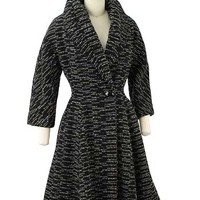 50s Coats-1950s Vintage Winter Coat #tweedcoat #vintagecoat #50scoat #1950scoat #wintercoat