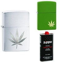 Zippo Leaf Lighter Bundle