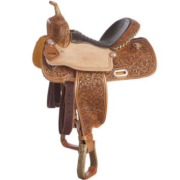 NRS Competitor Series 7/8 Breed Antique Barrel Racer Saddle