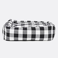 Buffalo Plaid Square Snuggler Bed