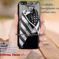 Evan Peters American Flag iPhone 6s 6 6s+ 5c 5s Cases Samsung Galaxy s5 s6 Edge+ NOTE 5 4 3 #movie #AmericanHororStory dl12