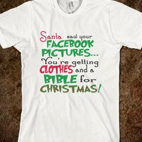 NAUGHTY PICTURES BIBLE FOR CHRISTMAS FUNNY CHRISTMAS PARODY SARCASTIC T SHIRT