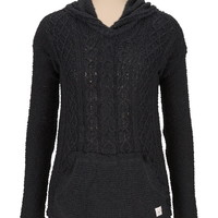 Silver Jeans ® Black V-Neck Hooded Sweater - Black