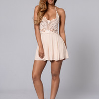 Girl Power Romper - Beige