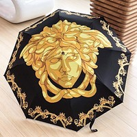 Onewel VERSACE Women Men Print Umbrella Sunshade Folding Sunshade