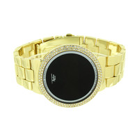 Touch Screen Smart Watch Digital Display Iced Out Bezel