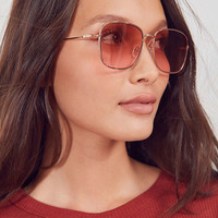 Sunday Slim Square Sunglasses | Urban Outfitters