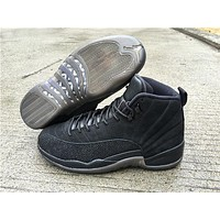 Air Jordan 12 ovo All black  Basketball Shoes   41---47