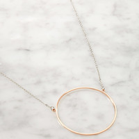 Cutout Circle Necklace