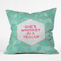 Elisabeth Fredriksson Whiskey In A Teacup Throw Pillow