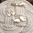 Whale Studs Trio (Available in Gold and Silver)