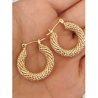 Marcela Small Thick Gold Hoops