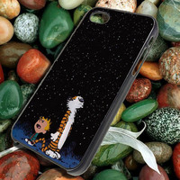 calvin and hobbes look at the stars for iphone 5,5S,5C, iphone 4,4S, ipod, samsung S3,S4, note 2, note 3, blackberry case, htc case