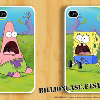 SpongeBob Patrick Star - iPhone 4 Case iPhone 5 Case iPhone 4s Case Galaxy Case Hard Plastic Case Rubber Case Movie Parody Shock Surprise