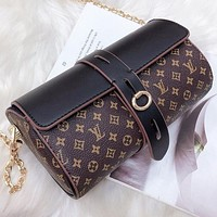 LV Fashion New Multicolor Monogram Print Leather Shoulder Bag Crossbody Bag