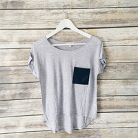 Joann Pleather Pocket Tee