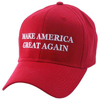 MAKE AMERICA GREAT AGAIN - 6 Panel EMBROIDERED hat - vote TRUMP 2016 (Red)