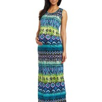 Three Seasons Maternity Women's Maternity Printed Maxi Dress