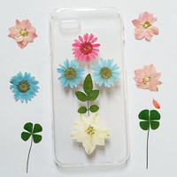 Pressed Flower iPhone 6s Case, Clear iPhone 6s Plus Case, iPhone 5 Case Clear, iPhone 6 Case, iPhone 5c Flower Case, iPhone 5s Case clear