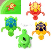 Kids Baby Child Wind Up Swimming Animal Floating Turtle Pool Bath Time Toy