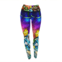 "Mandie Manzano ""Fairy Tale Alice in Wonderland"" Yoga Leggings"
