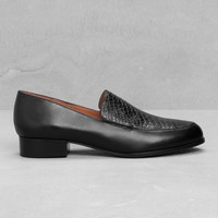 & Other Stories | Leather Loafers | Black