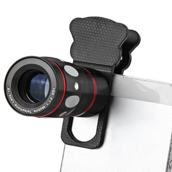 Fish Eye Wide Angle Macro Telephoto 4-in-1 Universal Cat Clamp Photo Lens for iPhone iPad Samsung HTC Tablet PC = 1842822212