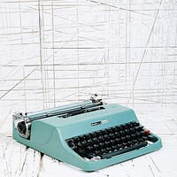 Vintage Olivetti Lettera Typewriter in Turquoise - Urban Outfitters