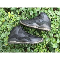 Air Jordan 10 Retro Drake OVO Black Basketball Shoes