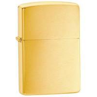 Zippo 2 Pack of Brushed Brass
