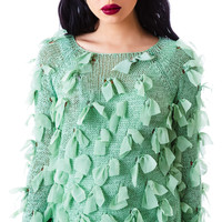 English Rose Gilly Ribbon Sweater Mint
