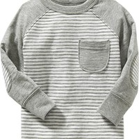 Striped Elbow-Patch Tees for Baby