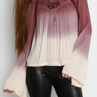 Patrons of Peace Bellsleeve Ombre Top