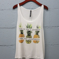PREORDER - love is like a pineapple