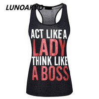 Letter Printing Funny Women's Workout Tank Top Burnout Tank Top Workout Clothing Fitness Apparel