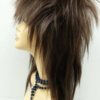 Long Medium Brown David Bowie Style Costume Wig. Rockstar Wig. Rocker Wig. [04-23-Rock-6]