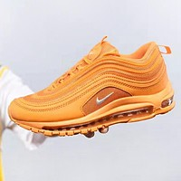 NIKE Air Max 97 New fashion hook couple running shoes Orange