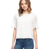 Embroidered Georgette Top by Juicy Couture