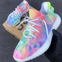 Adidas 350 New fashion multicolor print running shoes women