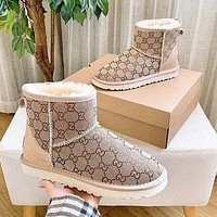 UGG GUCCI 2020 branded short boots Shoes