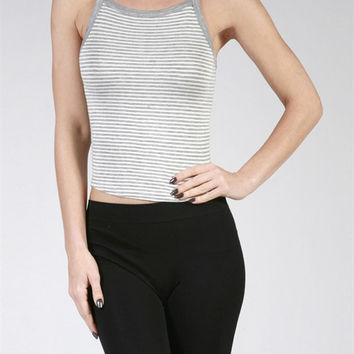 Alina Striped Cami - Gray