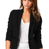 Double Buttoned with Pockets Casual Blazer