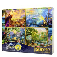 disney kinkade lion king peter pan 4 in 1 multipack 500 pcs puzzle new with box