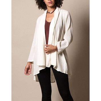 Brea Wrap Jacket - Ivory