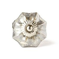 Mercury Glass Melon Knob by Anthropologie in Silver Size: One Size Knobs