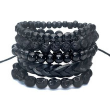 (ONE TIME OFFER) 5 Pack Black Out Bracelet Set
