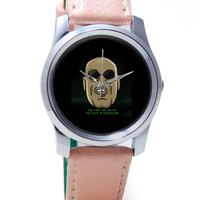 You Take The Red Pill Quote | Morpheus Matrix Fan Art Wrist Watch