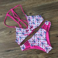 Summer Swimsuit New Arrival Hot Beach Print Sexy Swimwear Bikini [10603731663]