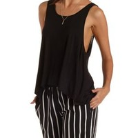 Oversized Scoop Neck Muscle Tank Top by Charlotte Russe