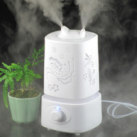 Humidifiers Aroma Aromatherapy Diffuser Ultrasonic Humidifier LED 110-240V Light Carve Design Mist Maker Essential Oil Diffuse